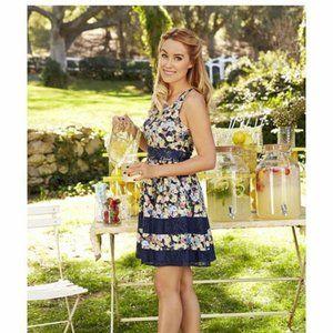 LC Lauren Conrad Floral Fit & Flare Dress 8